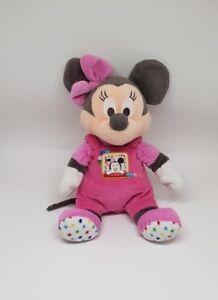 Doudou-peluche-Minnie-Disney-Nicotoy-noeud-salopette-rose-etoiles-ETOILE-NEUF