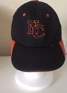 NC-North-Carolina-Team-Fitted-ECO3-Mesh-Hat-by-OC-Sports-Black-Orange-Cap-L-XL