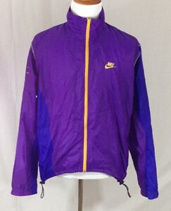 Image is loading VTG-Nike-ECHELON-Men-039-s-Purple-Windbreaker- a7828e641