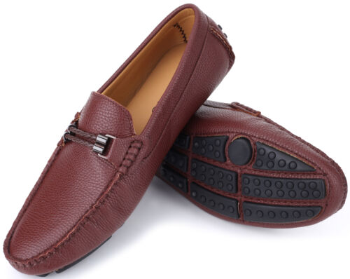 Mio Marino Mens Italian Dress Casual Loafers Slip-on Driving Shoes in Gift Bag