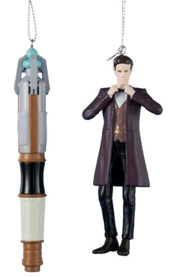 """Christmas Decorations--Doctor Who - 4.5"""" 11th Doctor & Sonic Screwdriver Chri..."""