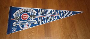 1990-Chicago-Cubs-All-Star-game-pennant-Wrigley-Field-Ryne-Sandberg