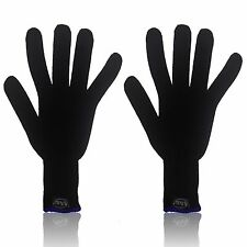 X2 MyProStyler Black & Blue Heat Resistant GLOVES for Hair Curling & Flat Irons