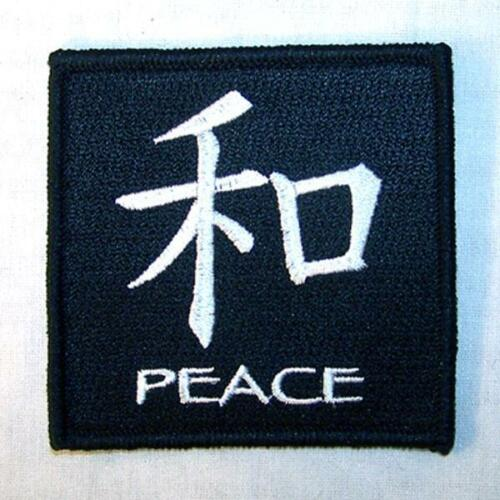 CHINESE PEACE SIGN  EMBROIDERED PATCH P446 iron on sew biker JACKET patches NEW
