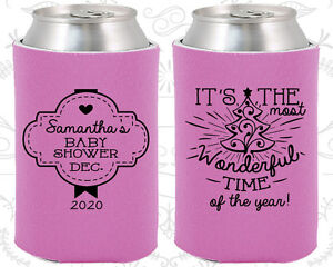 Christmas Koozies.Details About Baby Shower Koozies Koozie Favors 90190 Christmas Xmas Holiday