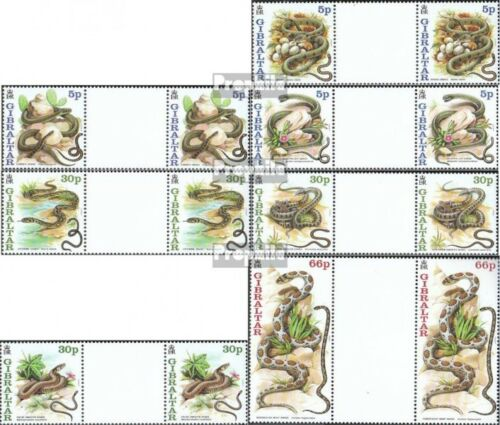 Gibraltar 955ZW961ZW between steg couples mint never hinged mnh 2001 Snakes