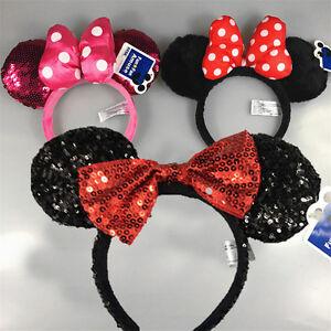 Disney-Parks-Minnie-Mouse-Ears-Halloween-Headband-Christmas-Party-accessories