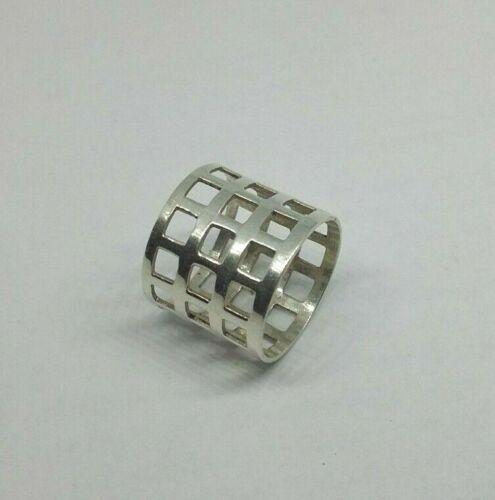 Gr 54 das Gitter Moderner Silberring ohne Steine 925 Silber