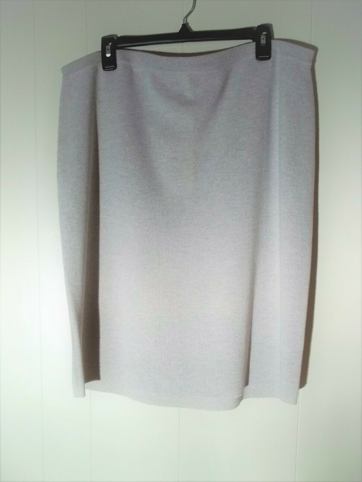 Sz 1x Eileen Fisher sea salt wool crepe ICONS knit skirt career NEW NWT  218
