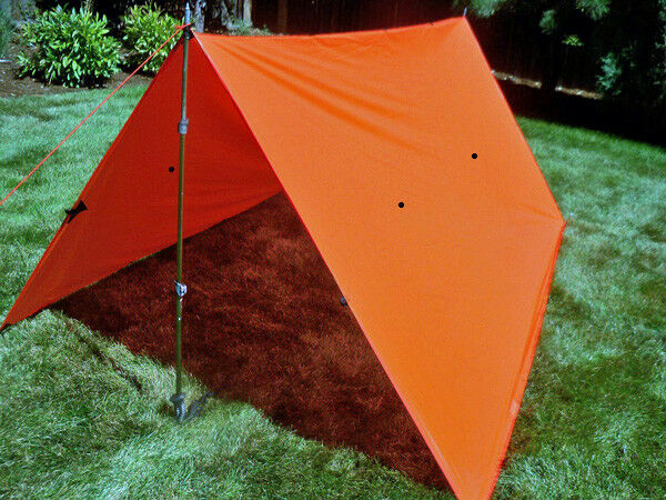 Bear Paw Wilderness Designs 10 x 10 Silnylon Blaze orange Tarp