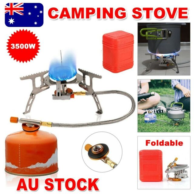 Outdoor Gas Jet Portable Stove Cooking Hiking Camping Gear Burner Cooker Picnic