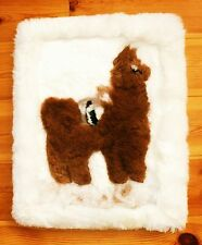Alpaka Fell Kissen weich 40 x 50 cm Nr.3 Alpaca Lama Sofa Sessel Deko Peru