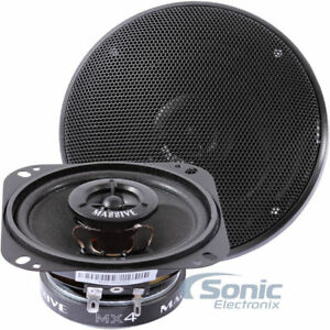 "Massive Audio MX4 (60W RMS) 4"" MX Series 2-Way Coaxial Car Speakers"