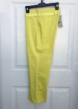 AirField PK-115 Cropped Pants Yellow Tapered Trousers IT 42 FR 40 US 8 M NWT$200
