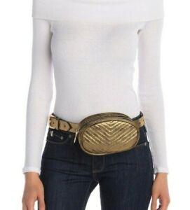 Steve-Madden-Gold-Foil-Fanny-Pack-Belt-Waist-Bag-Medium-Small-XL-45