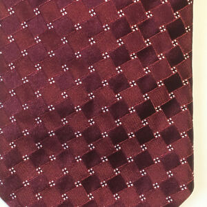 Giorgio-Armani-Men-039-s-Garnet-Red-Silver-Textured-Luxury-Silk-Necktie-Italy
