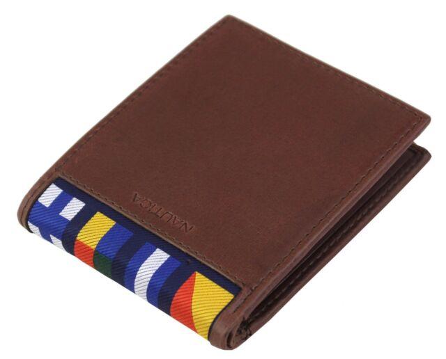 Men/'s Genuine Leather Black Or Brown Wallet Credit Card Billfold RFID Security