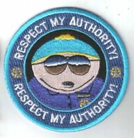 Cartman Respect My Authority Embroidered Iron On Patch 3 Badge / Applique