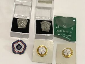 Mixed-Lot-of-5-Little-League-World-Series-Pins-LLWS-Foreign-Tampa-Chinese-Korea