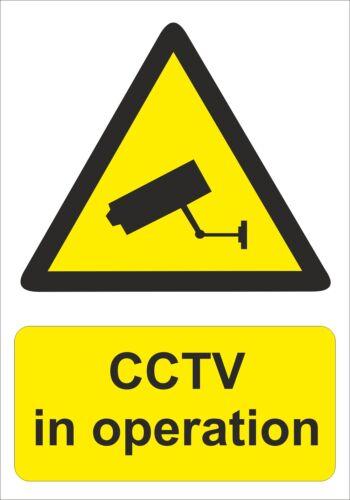 RIGID CCTV IN OPERATION WARNING SIGN