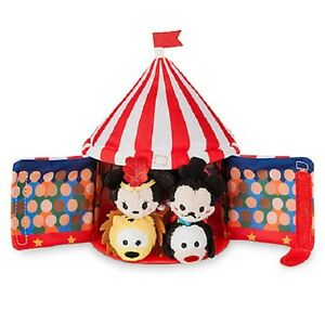 Image is loading US-Disney-Store-Circus-Tent-Set-with-4-  sc 1 st  eBay & US Disney Store Circus Tent Set with 4 Micro Tsum Tsum Mickey ...