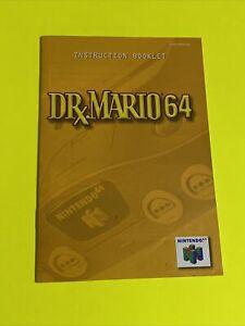🔥 DR. MARIO 64 GAME - N64 Instruction Booklet Manual Book Original Nintendo 64