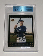 2007 BREWERS Ryan Braun signed card Topps #UH150 AUTO JSA Beckett Slab Autograph