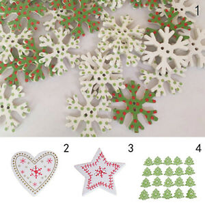 20pcs-Christmas-Tree-Snowflake-Wooden-Buttons-Sewing-and-Scrapbook-z