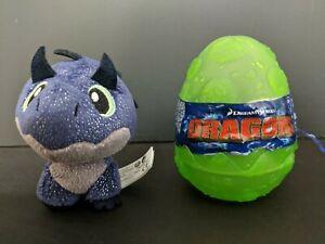 """Dragon Hidden WorldLEGENDS EVOLVEDTURQUOISE EGG Gutbuster 3/"""" Plush in Egg"""