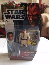 STAR Wars: MOVIE HEROES: Obi-Wan Kenobi con light-up famosa spada laser figura (MH16)