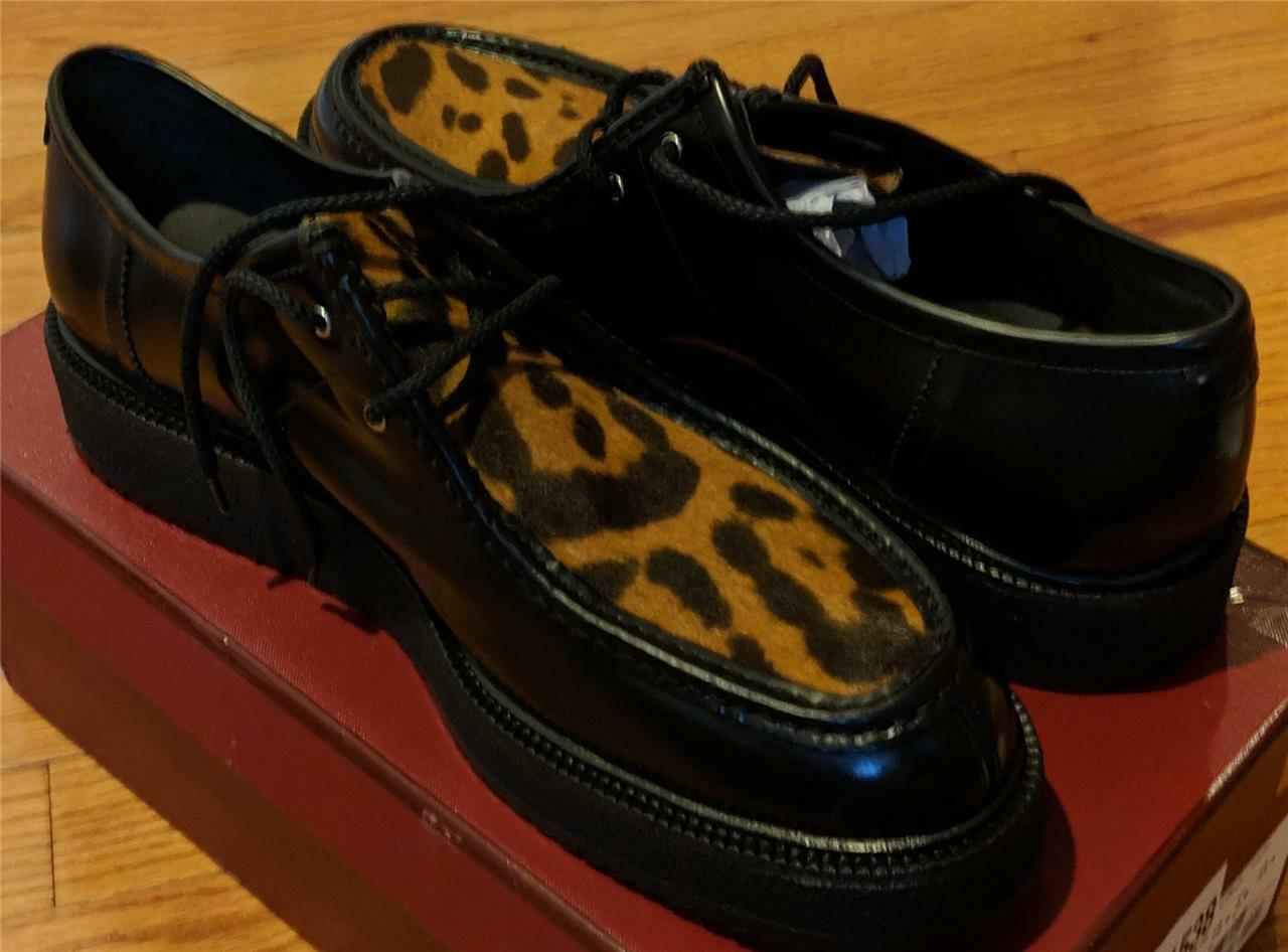 695 Mens Authentic Bally  Dyson  Ponyhair & Leather Derby Creepers US 10.5 D