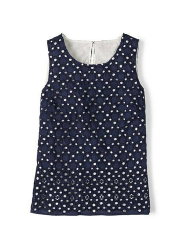 NAVY Broderie Anglaise 8 12 NEW Boden Miranda Top