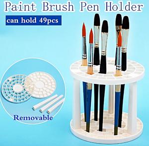 NEW Art Paint Brush Pen Holder Rack Display Stand Support Holder 49 Holes
