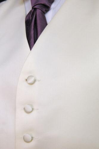 442 W finition satinée gilet-mariage//robe//suit//fête solide ivoire