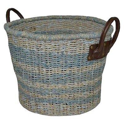Threshold™ Seagrass Large Round Basket - Antique Blue