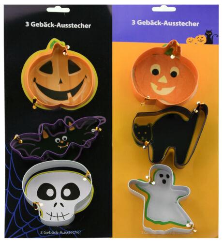 Halloween Gebäck-Ausstecher aus Stahl Kürbis Geist Katze Schädel Plätzchen