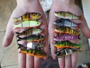 Custom-mini-Perch-Chub-Pike-Fishing-lures-12-colours-Dropshot-LRF-Jig