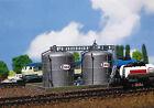 FALLER N Gauge Railway Buildings Depots Kit No Fa222131 2 X Oil Storage Tanks.