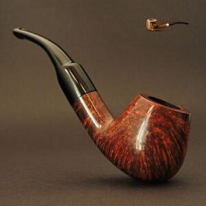 HAND-MADE-WOODEN-TOBACCO-SMOKING-PIPE-BRUYERE-no-72-Brown-Briar-BOX