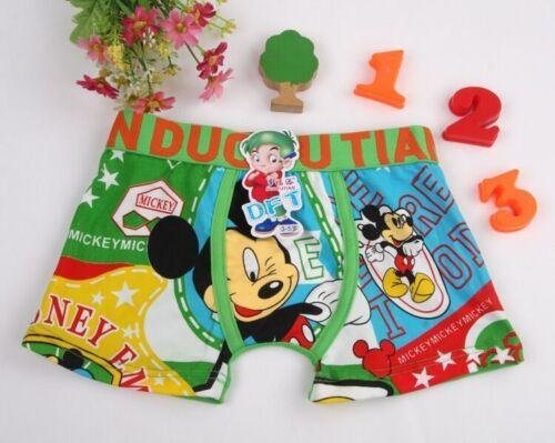 Mickey Mouse Kids Underwear Cotton Boxer Briefs Cartoon Toddler Boys Underwear