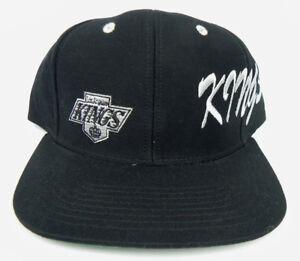 2a0e04c3 LOS ANGELES KINGS NHL VINTAGE FLAT BILL SNAPBACK BLACK DOS LOGOS CAP ...