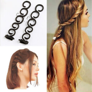 2pcs Magic Hair Clips Centipede Braid Twist Plait Stylist Hairstyle ...