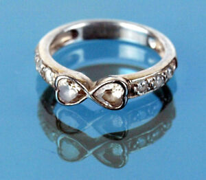 USA vendeur coeurs band ring sterling silver 925 BEST DEAL Bijoux Taille 3