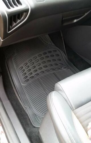 Waterproof BLACK Rubber Car Non-Slip Floor Mats Mitsubishi Shogun