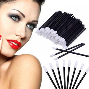 100Pcs-Brillo-Labial-Cepillo-Desechable-Varitas-lapiz-labial-maquillaje-herramienta-pincel-aplicador