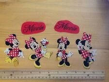 Disney Minnie Mouse Fabric Iron On Appliques - style #9