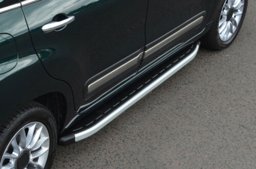 2012+ Aluminium Side Steps Bars Running Boards To Fit Fiat 500L