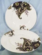 Awesome 2 Tabletops Gallery Misto Angela Salad Plate Brown Green Paisley Cream  Porcelain