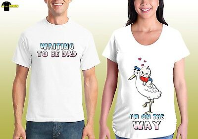 Couple Matching Love Tshirts Husband Wife Mom dad To Be Maternity pregnancy