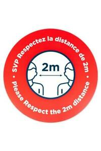 DISTANCING STICKER 2 METERS - Free Shipping across Canada Canada Preview